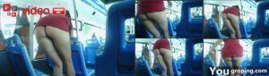 milf mini skirt bus