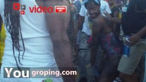 Dry sex grinding at carnival